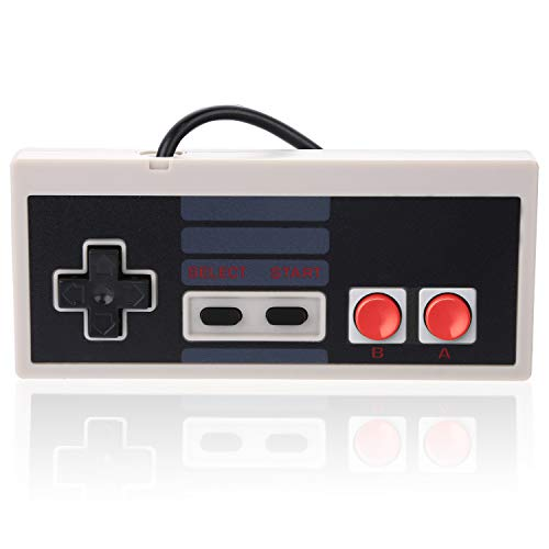 NES Classic Mini Wired Controller - Aterox Replacement Joypad Gamepad with Extended 6FT Cable for New 2016 Nintendo Entertainment System Game Console (1 Pack)