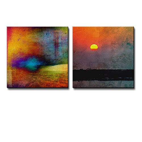 2 Piece View of an Abstract Sunset