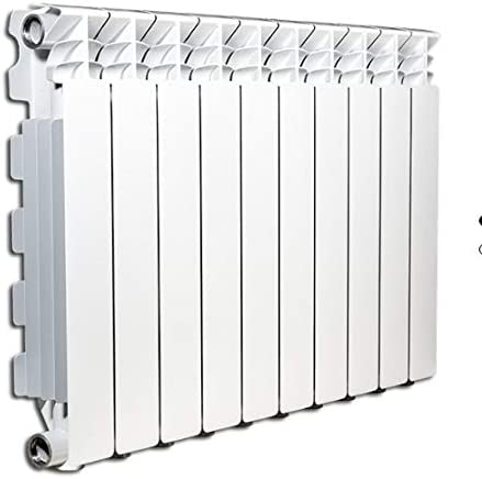 Radiador de calentamiento de agua o Vapor Elementos de Aluminio fundido Marca: fondital Mod. exclusivo B3800/100distancia entre ejes 800mm 50x80mm (5 elementi) Bianco