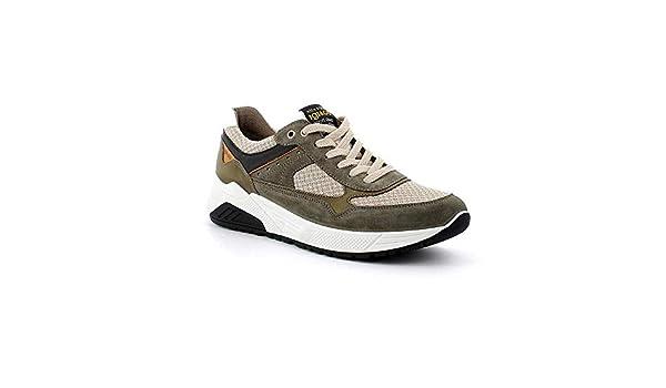IGI&CO - Zapatillas de Hombre de Camuflaje, Color Verde Militar: Amazon.es: Zapatos y complementos