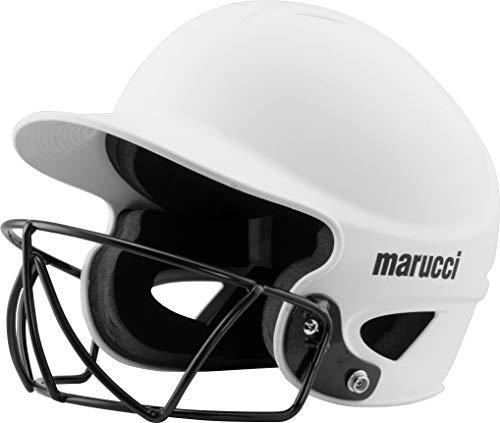 Marucci Mbhsb Fastpitch Softball Batting Helmet, White, Small