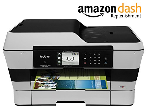 Brother MFCJ6920DW Wireless Multifunction Inkjet Printer with Scanner, Copier and Fax, Amazon Dash Replenishment Enabled by Brother
