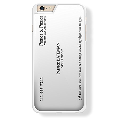 Patrick Bateman business card for iPhone 6 Plus White case