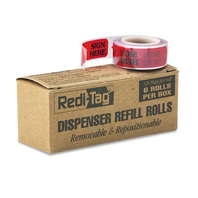 Redi-Tag Corporation 91002 Arrow Message Page Flag Refills44; Sign Here44; ()