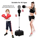 HOMFY Freestanding Punching Bag Reflex Boxing Bag