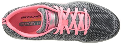 Appeal 0 Skechers charcoal 2 Energy Gris high Zapatillas Mujer coral Flex x6OwqrtO