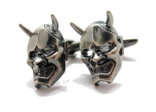 Mens Cufflinks Evil Devil Halloween Mask Face Cuff Links C1314 (Devil Face Halloween)