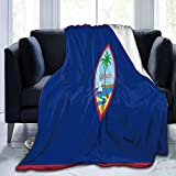 Cyloten Blanket Flag of Guam Fleece Blanket Foldrable Throw Blanket Washable Couch Sofa Fuzzy Blanket Reversible Plush Blanket Beach Blanket for Home Office