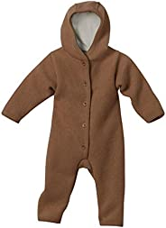 Disana 100% Organic Boiled Merino Wool Overall Romper (3-6 Months, Natural)