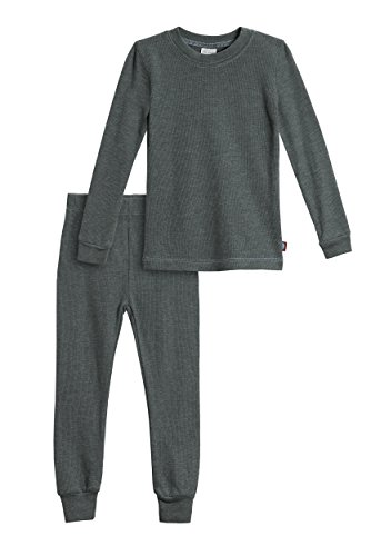 City Threads Little Boys Thermal Underwear Set Perfect for Sensitive Skin SPD Sensory Friendly, Charcoal- 3T