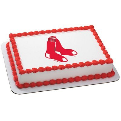 Boston Red Sox Licensed Edible Cake Topper #4643 (Red Sox Cake Topper)