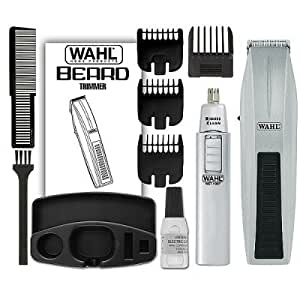 wahl 5537 420 moustache and beard trimmer and nose trimmer beauty. Black Bedroom Furniture Sets. Home Design Ideas