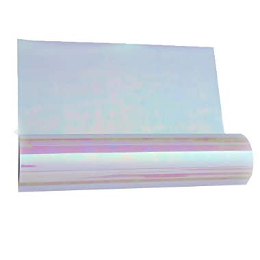 HOHO Holographic Rainbow Iron-on Heat Transfer Vinyl Cutting Film for T-Shirt Clothes 20 x12