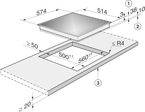 Super Miele KM 6003 LPT herdgesteuertes Elektro-Kochfeld / Glaskeramik PN31