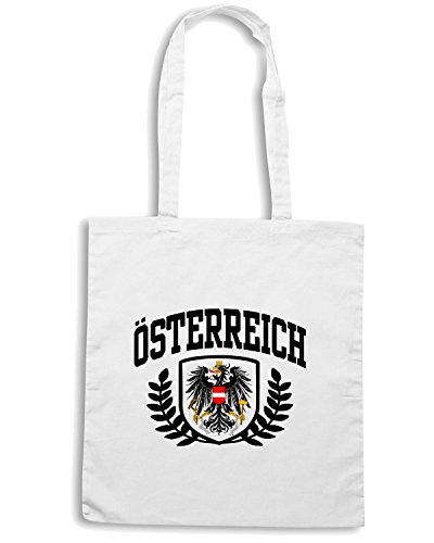T-Shirtshock - Borsa Shopping T0930 austria osterreich calcio ultras Bianco