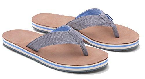 Hari Mari Mens Scouts Flip-Flop Sandal Gray/ Blue oK5Ur