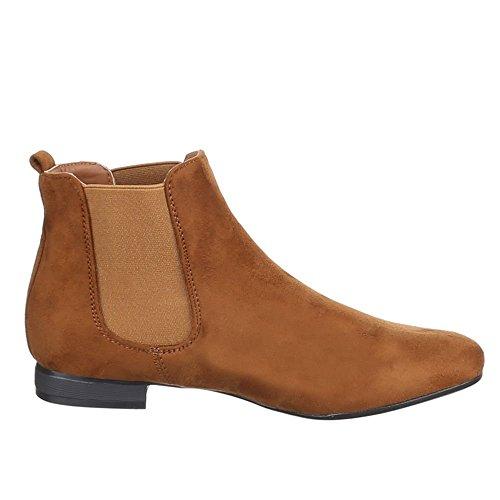Design Women's Camel Boots Chelsea Ital dw4vxaOd