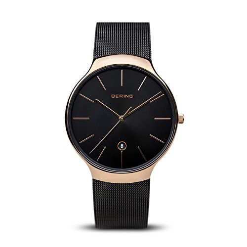 Classic Mesh Womens Watch - BERING Time 13338-262 Classic Collection Watch with Mesh Band and Scratch Resistant Sapphire Crystal. Designed in Denmark.