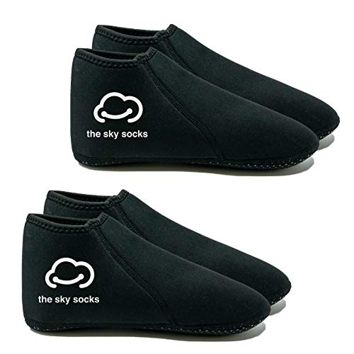 The Sky Trade 2 Pack Neoprene Socks (3 mm) for Water Sports for Women and Men, Wetsuit Sock Anti Slip Flexible for Snorkeling Surfing Kayaking Swimming Sailing Diving