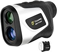 TIDEWE Golf Rangefinder with Magnetic Holder & Rechargeable Battery, 700/1000Y Slope Flag Pole Locking Mul