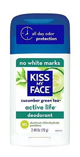 Active Life Deodorant - Kiss My Face Active Life Naturally Effective Deodorant, Cucumber Green Tea, 2.48 Ounce by Kiss My Face