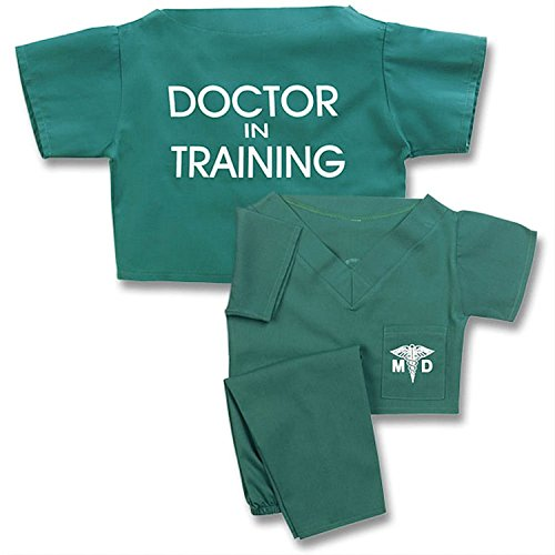 Unisex Children's Green Doctor In Training Scrubs Suit Halloween Costume (Halloween Doctors)