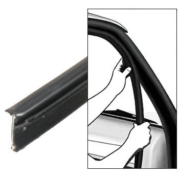 CRL 1980-86 Ford Fullsize Truck Inner and Outer Driver Side and Passenger Side Belt Weatherstrip- 4 PC - Weatherstripping Kit Belt Outer