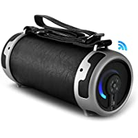 Pyle Portable Speaker, Boombox, Bluetooth, Rechargeable Battery, Digital Sound Amplifier, SD/FM Radio, 2.1 Channel Hi-Fi Active Stereo Speaker System, Built-in Flashing LED Party Lights(PBMSPG16)