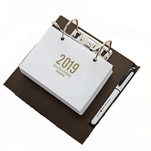 Creative DIY2019 Desk Calendar Flip Puede desgarrar la personalización del Calendario, Simple Desktop Office Plan Calendar...