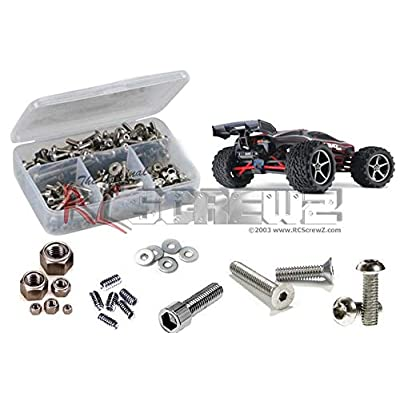 RCScrewZ Traxxas 1/16 E-Revo VXL Stainless Steel Screw Kit, Complete Replacement for RC Car Rusted and Stripped Screws, Race Quality Upgrade, Assembled in USA. tra037 for Traxxas Kit (71054/71074): Toys & Games