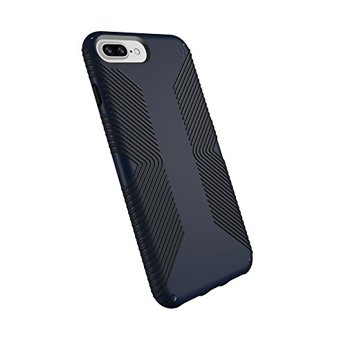 Speck Products Presidio Grip Cell Phone Case for iPhone 8 Plus, iPhone 7 Plus, 6S Plus, 6 Plus, Eclipse Blue/Carbon Black, 10-Pack Business Packaging by Speck