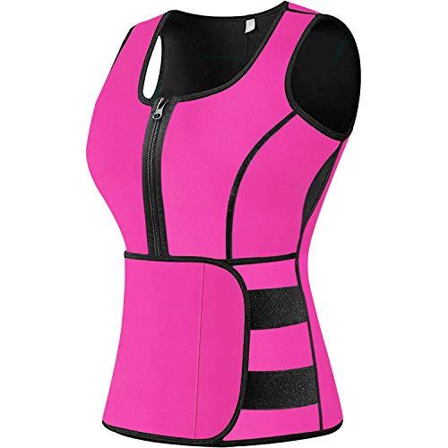 Sweat Vest Waist Trainer for Women Weight Loss Neoprene Sauna Slimming Vest with Adjustable Waist Trimmer Belt
