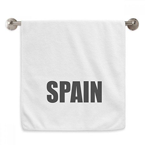 DIYthinker Spain Country Name Black Circlet White Towels Soft Towel Washcloth 13x29 Inch by DIYthinker