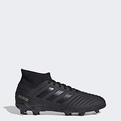 adidas Unisex Predator 19.3 Firm Ground Soccer Shoe, Black/Gold Metallic, 3.5 M US Big Kid