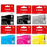 Canon Original Genuine Ink Cartridges for Pixma MG6150 / MG6250 / MG8150 / MG8250 Printers - Multicoloured (Pack of 6)