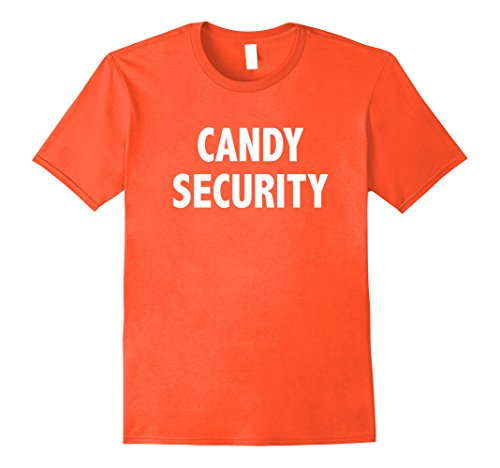 Costumes For Moms And Dads (Mens Candy Security Shirt | Halloween Costume Tee for Mom & Dad 2XL Orange)