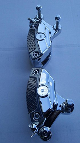 - Harley Davidson OEM Chrome Brembo Front Brake Calipers Assembled 2008-18