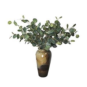 LI HUA CAT Artificial Flowers 2 Pieces Artificial Leaves Artificial Eucalyptus Globulus Leaves Fake Leaves for Home Decoration,Art,Shop,Store,Interior Decoration,DIY,etc 90