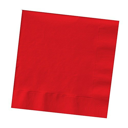 Creative Converting 600-Count Touch of Color Paper Beverage Napkins, Classic Red (Value Pack) by Creative Converting