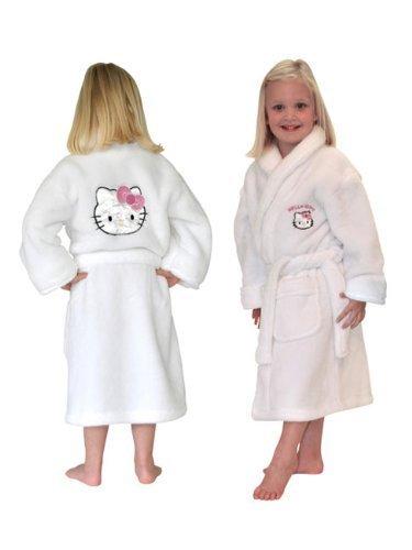 Hello Kitty - Bata de baño para niñas (tamaño grande)