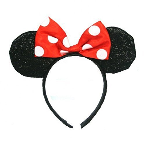 Minnie Mouse Sparkled Ears Headband Costume Accessory