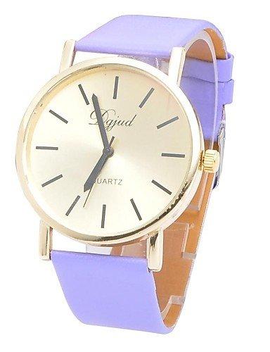 El mundo de la moda Unisex redondo suave movimiento de reloj de pulsera Reloj de China de la correa (varios colores), color blanco: Amazon.es: Relojes