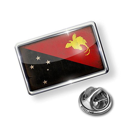 Pin Papua New Guinea Flag with a vintage look - Lapel Badge - NEONBLOND save more