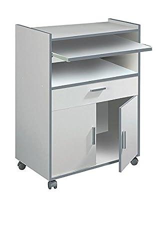 SERMAHOME Schrank Küche für Mikrowelle. Weiß. Maße: 59 x 92 x 40 cm ...
