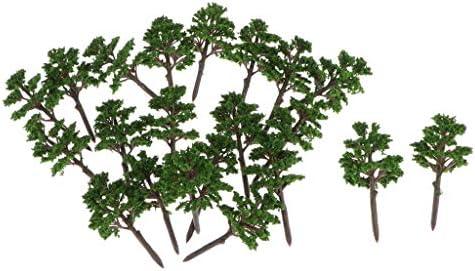 Sharplace 松の木モデル 樹木 モデルツリー 20本 ミニチュア風景 砂テーブル装飾 鉄道模型 DIY 全2選択 - D002
