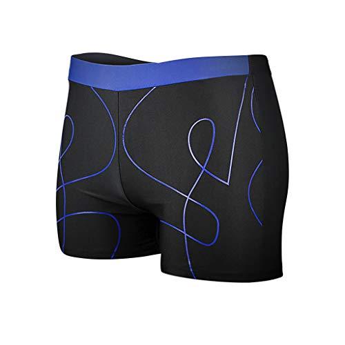 Men's Shorts Swim Trunks Quick Dry Beach Surfing Print Running Polyester Jammer Swimsuit (XXXL, Blue)