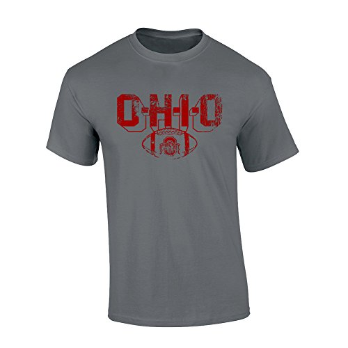 Elite Fan Shop Ohio State Buckeyes TShirt Vintage Football Charcoal - (Football Vintage T-shirt)