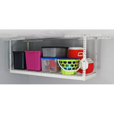 Overhead Storage Rack Color: White, Size: 45'' H x 72'' W x 36'' D by MonsterRax