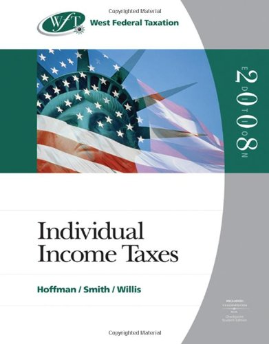 Price comparison product image West Federal Taxation 2008: Individual Income Taxes (with RIA Checkpoint and Turbo Tax Premier CD-ROM)