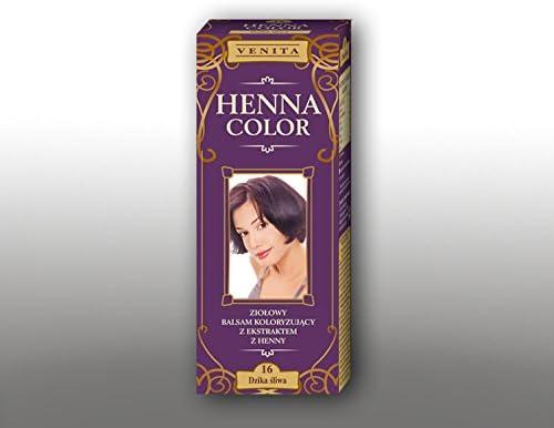 Venita Henna Color Herbal Coloring Hair Balm Savage Ciruela ...
